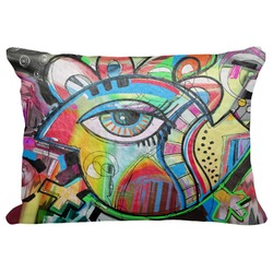 """Abstract Eye Painting Decorative Baby Pillowcase - 16""""x12"""""""
