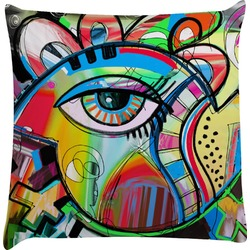 Abstract Eye Painting Decorative Pillow Case