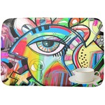 Abstract Eye Painting Dish Drying Mat