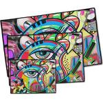 Abstract Eye Painting Door Mat