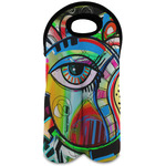 Abstract Eye Painting Wine Tote Bag (2 Bottles)
