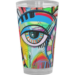 Abstract Eye Painting Drinking / Pint Glass