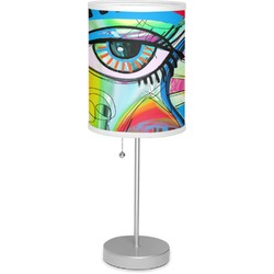 """Abstract Eye Painting 7"""" Drum Lamp with Shade"""
