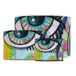 Abstract Eye Painting Drum Lamp Shade
