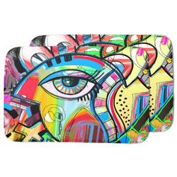 Abstract Eye Painting Dish Drying Mat