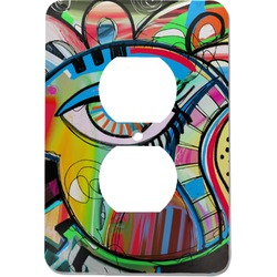 Abstract Eye Painting Electric Outlet Plate