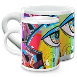 Abstract Eye Painting Espresso Cups