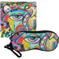 Abstract Eye Painting Eyeglass Case & Cloth