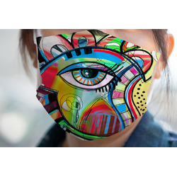 Abstract Eye Painting Face Mask Cover