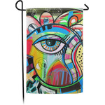 Abstract Eye Painting Garden Flag - Single or Double Sided
