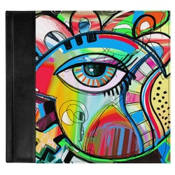 Abstract Eye Painting Genuine Leather Baby Memory Book