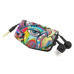 Abstract Eye Painting Genuine Leather Cord Wrap