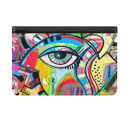 Abstract Eye Painting Genuine Leather ID & Card Wallet - Slim Style