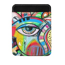 Abstract Eye Painting Genuine Leather Money Clip