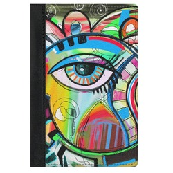 Abstract Eye Painting Genuine Leather Passport Cover