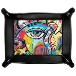 Abstract Eye Painting Genuine Leather Valet Tray