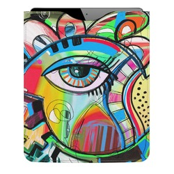 Abstract Eye Painting Genuine Leather iPad Sleeve