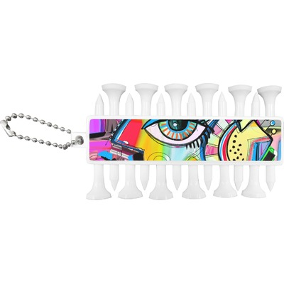 Abstract Eye Painting Golf Tees & Ball Markers Set