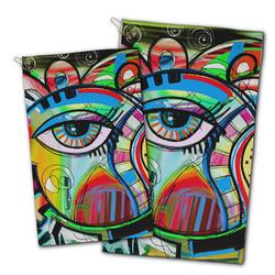Abstract Eye Painting Golf Towel - Full Print
