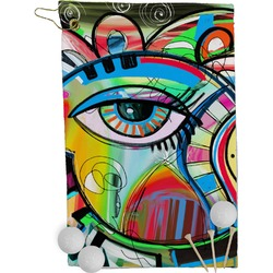 Abstract Eye Painting Golf Towel - Full Print