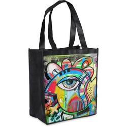 Abstract Eye Painting Grocery Bag