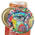 Abstract Eye Painting Jar Opener