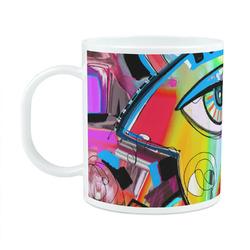 Abstract Eye Painting Plastic Kids Mug