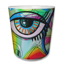 Abstract Eye Painting Plastic Tumbler 6oz