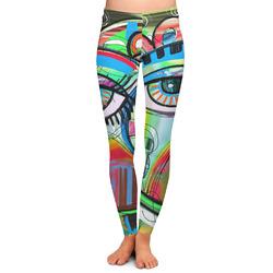 Abstract Eye Painting Ladies Leggings - Medium