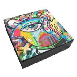 Abstract Eye Painting Leatherette Keepsake Box - 3 Sizes