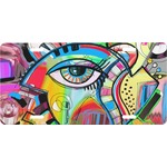 Abstract Eye Painting Front License Plate