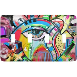 Abstract Eye Painting Light Switch Cover (4 Toggle Plate)