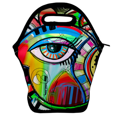 Abstract Eye Painting Lunch Bag