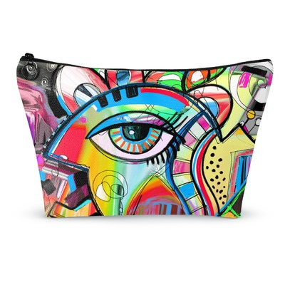 Abstract Eye Painting Makeup Bags