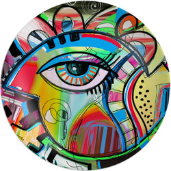 Abstract Eye Painting Melamine Plate - 8""