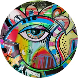 Abstract Eye Painting Melamine Plate