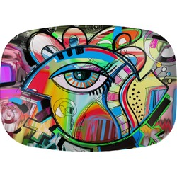 Abstract Eye Painting Melamine Platter