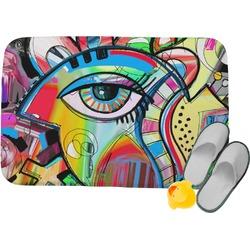 "Abstract Eye Painting Memory Foam Bath Mat - 24""x17"""