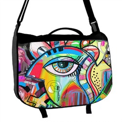 Abstract Eye Painting Messenger Bag