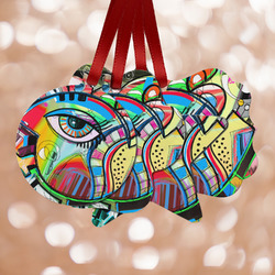 Abstract Eye Painting Metal Ornaments - Double Sided