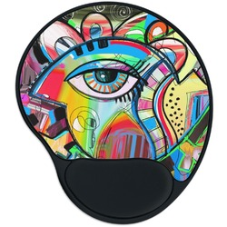 Abstract Eye Painting Mouse Pad with Wrist Support