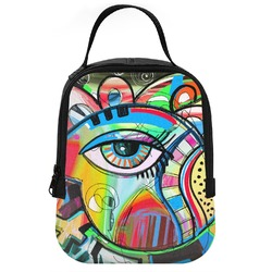 Abstract Eye Painting Neoprene Lunch Tote