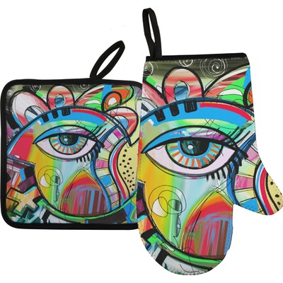 Abstract Eye Painting Oven Mitt & Pot Holder