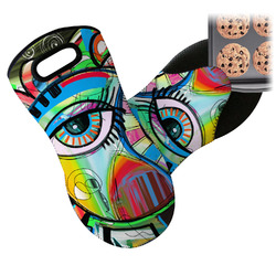 Abstract Eye Painting Neoprene Oven Mitt