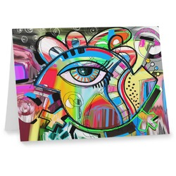 Abstract Eye Painting Notecards