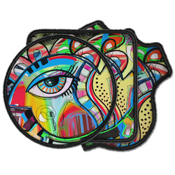 Abstract Eye Painting Iron on Patches