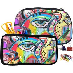Abstract Eye Painting Pencil / School Supplies Bag