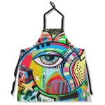 Abstract Eye Painting Apron Without Pockets