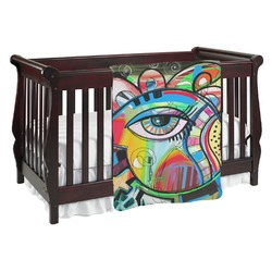 Abstract Eye Painting Baby Blanket