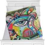 Abstract Eye Painting Blanket